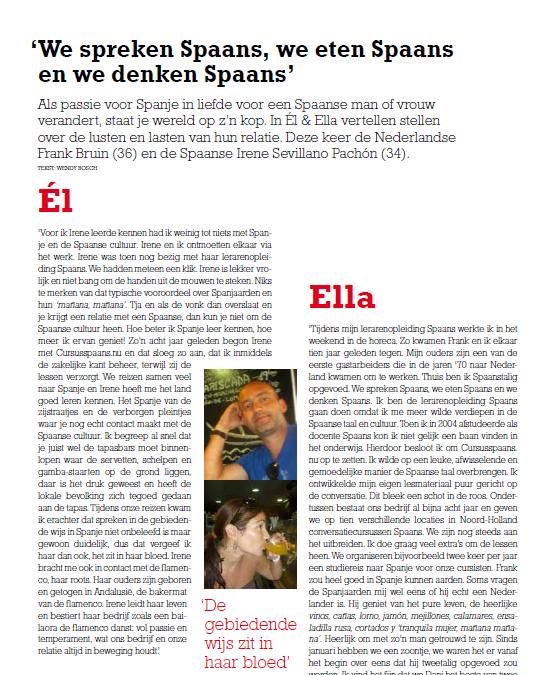 España y mas: el y ella